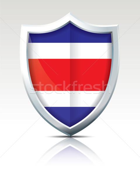 Escudo bandera Costa Rica mapa resumen fondo Foto stock © ojal