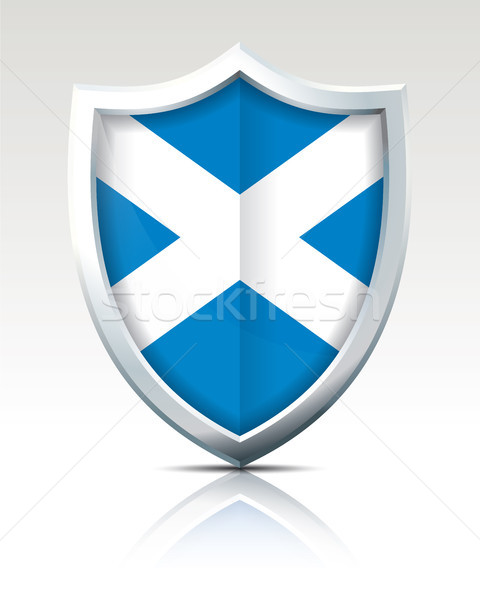 щит флаг Шотландии карта Мир синий Сток-фото © ojal