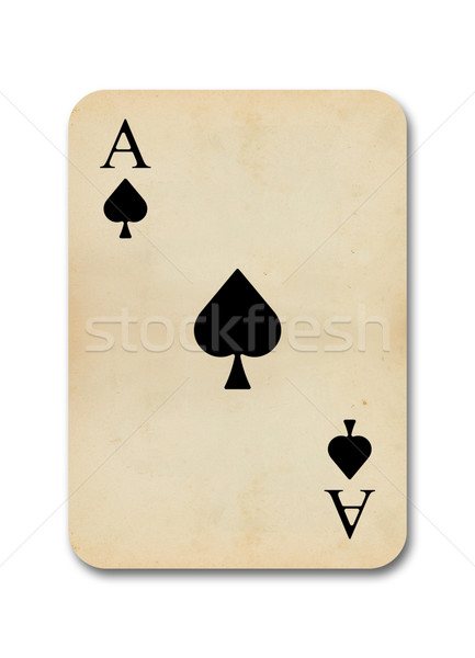 isolated old vintage aces card Stock photo © ojal