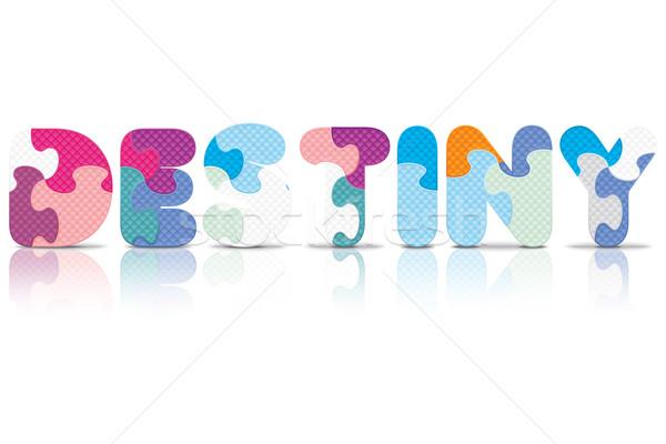 Vector lot geschreven alfabet puzzel liefde Stockfoto © ojal