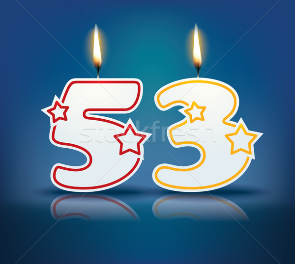 Birthday candle number 53 Stock photo © ojal