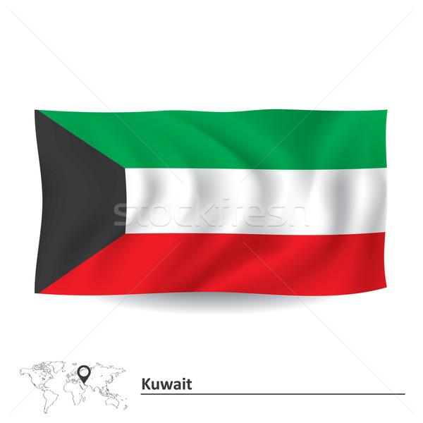 флаг Кувейт текстуры искусства знак зеленый Сток-фото © ojal