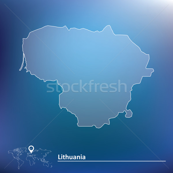 Map of Lithuania Stock photo © ojal