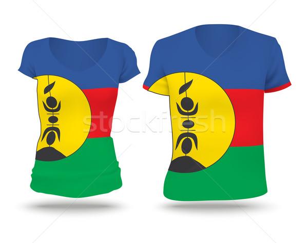 Flag shirt design of New Caledonia Stock photo © ojal
