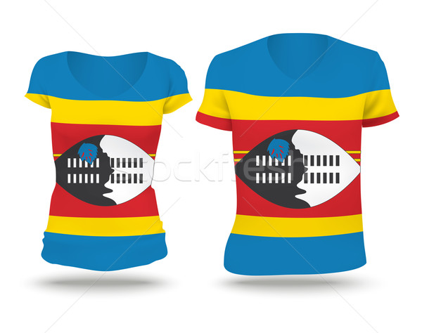 Flag shirt design of Swaziland Stock photo © ojal