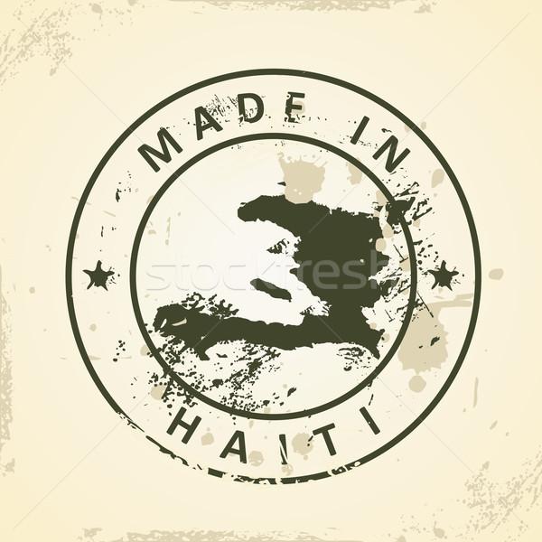 スタンプ 地図 ハイチ グランジ テクスチャ 世界 ストックフォト © ojal
