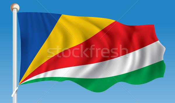 Flag of Seychelles Stock photo © ojal