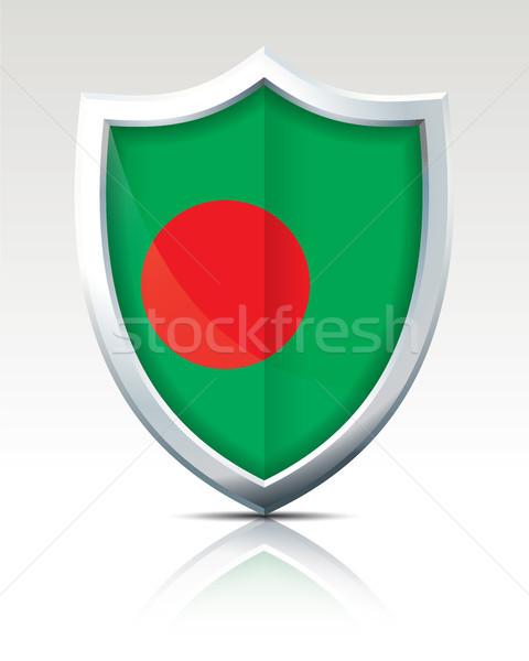 Escudo bandeira Bangladesh negócio viajar silhueta Foto stock © ojal