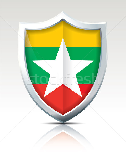 Shield with Flag of Burma Stock photo © ojal
