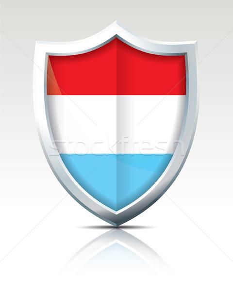 Schild vlag Luxemburg textuur kaart abstract Stockfoto © ojal