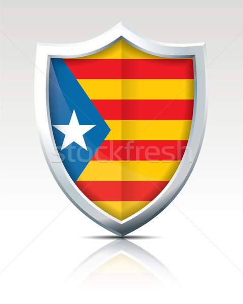 Shield with Flag of Catalonia Stock photo © ojal
