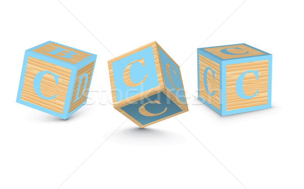 Vector letter C wooden alphabet blocks Stock photo © ojal
