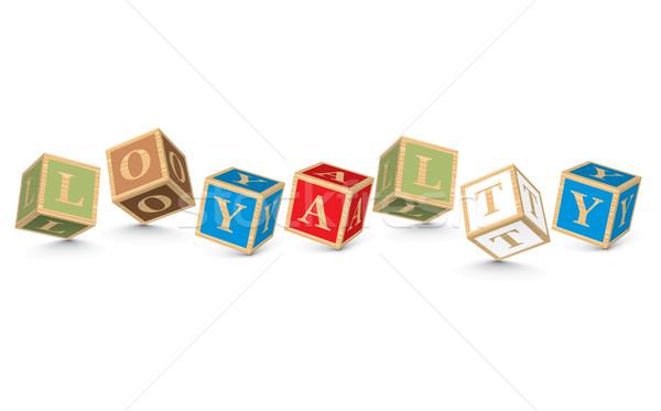 Stock photo: Word LOYALTY written with alphabet blocks