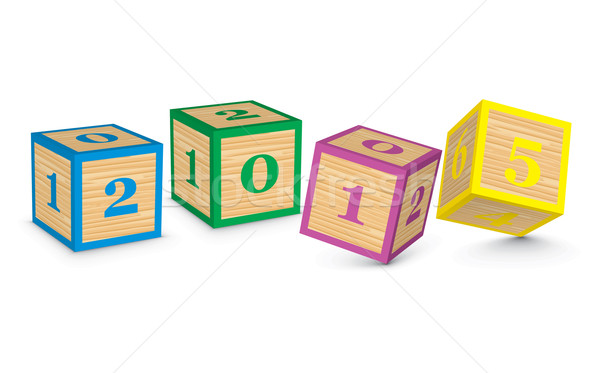 2015 made from toy blocks Stock photo © ojal