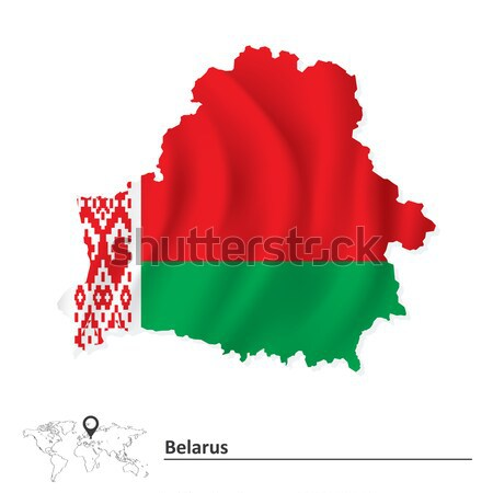 Map of Belarus with flag Stock photo © ojal