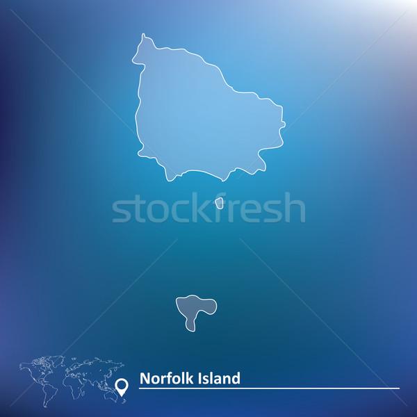 Map of Norfolk Island Stock photo © ojal