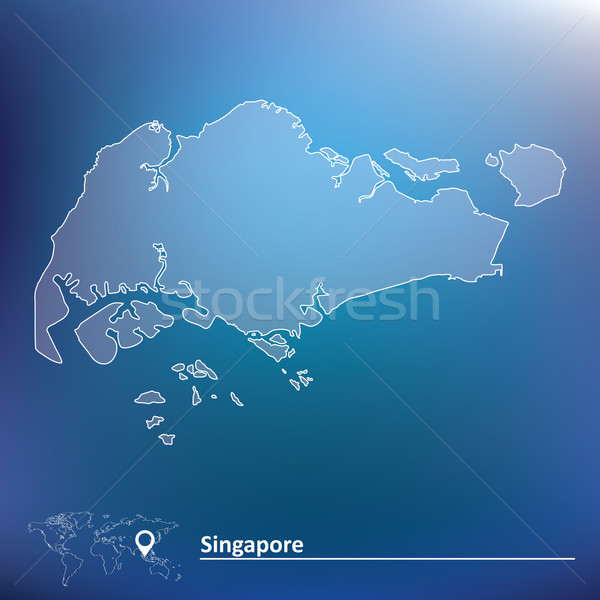 Carte Singapour monde pays dessin Asie Photo stock © ojal
