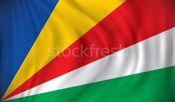 Vlag Seychellen achtergrond reizen Rood afrika Stockfoto © ojal