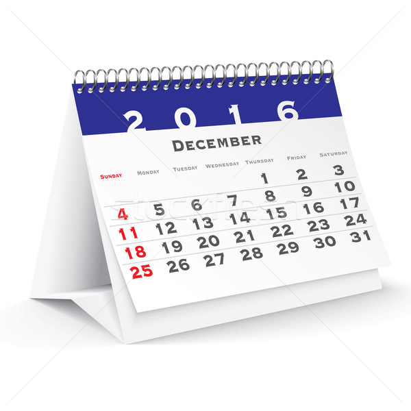 December 2016 desk calendar Stock photo © ojal