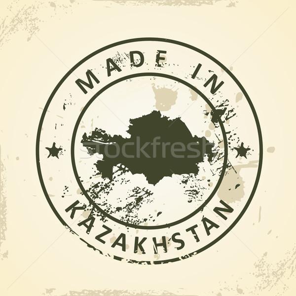 Carimbo mapa Cazaquistão grunge mundo fundo Foto stock © ojal