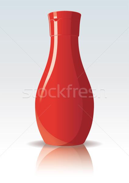 Tomates ketchup garrafa projeto vermelho cor Foto stock © ojal