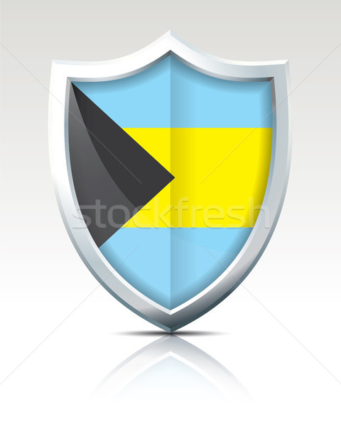 Shield with Flag of Bahamas Stock photo © ojal