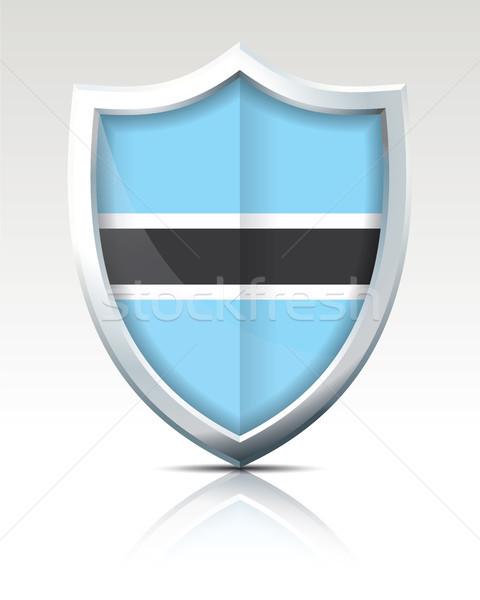 Shield with Flag of Botswana Stock photo © ojal