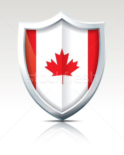 Shield with Flag of Canada Stock photo © ojal