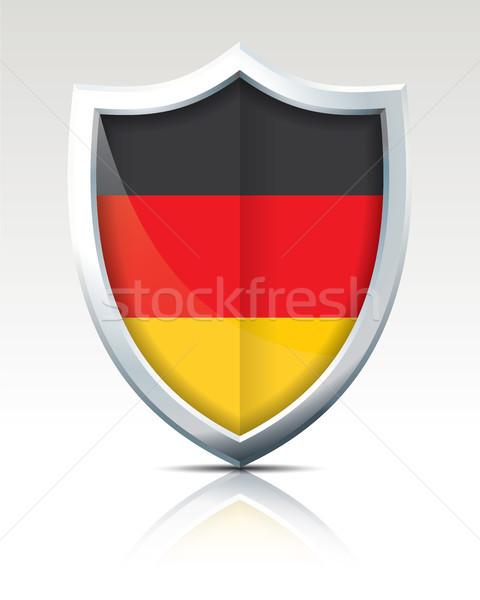 Schild vlag Duitsland wereld achtergrond kunst Stockfoto © ojal