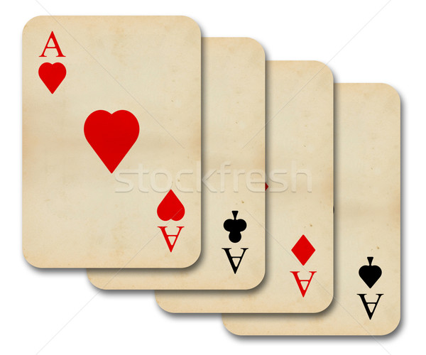 isolated old vintage aces cards Stock photo © ojal