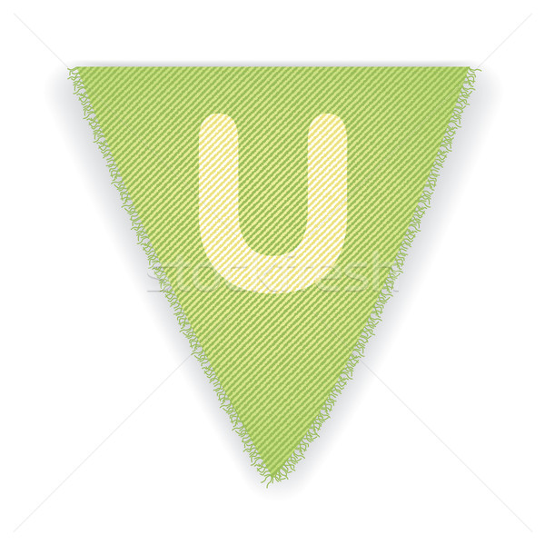 Bunting flag letter U Stock photo © ojal