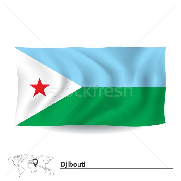 Banderą Dżibuti streszczenie sztuki biały wykres Zdjęcia stock © ojal
