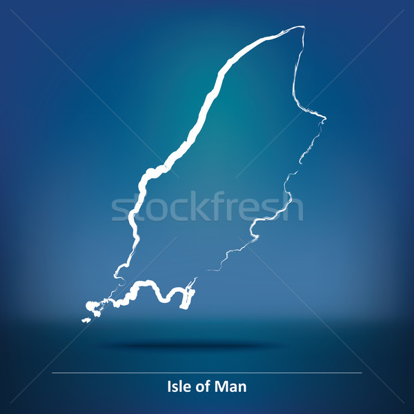 Doodle Map of Isle of Man Stock photo © ojal