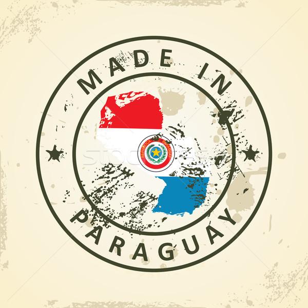 Pieczęć Pokaż banderą Paragwaj grunge tekstury Zdjęcia stock © ojal