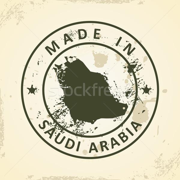 Carimbo mapa Arábia Saudita grunge textura mundo Foto stock © ojal