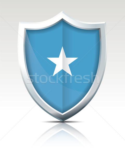 Tarcza banderą Somali star wiatr biały Zdjęcia stock © ojal
