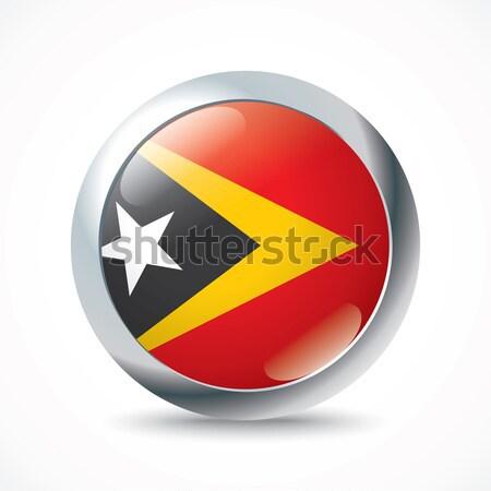 Vlag knop ontwerp achtergrond silhouet welkom Stockfoto © ojal