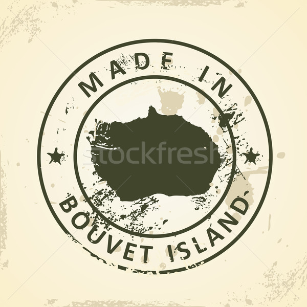 Stamp with map of Bouvet Island Stock photo © ojal