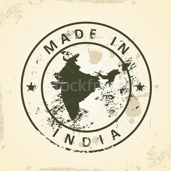 Sello mapa India grunge textura resumen Foto stock © ojal