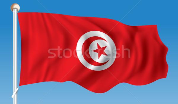 Flag of Tunisia Stock photo © ojal