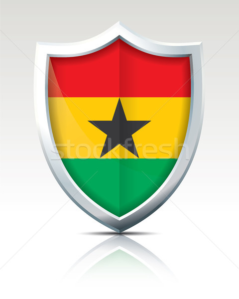 Shield with Flag of Ghana Stock photo © ojal