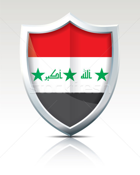 Escudo bandeira Iraque projeto mundo fundo Foto stock © ojal