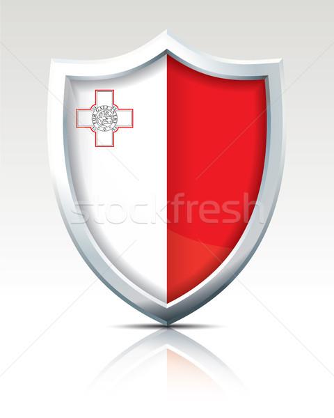 Scudo bandiera Malta texture mappa sfondo Foto d'archivio © ojal