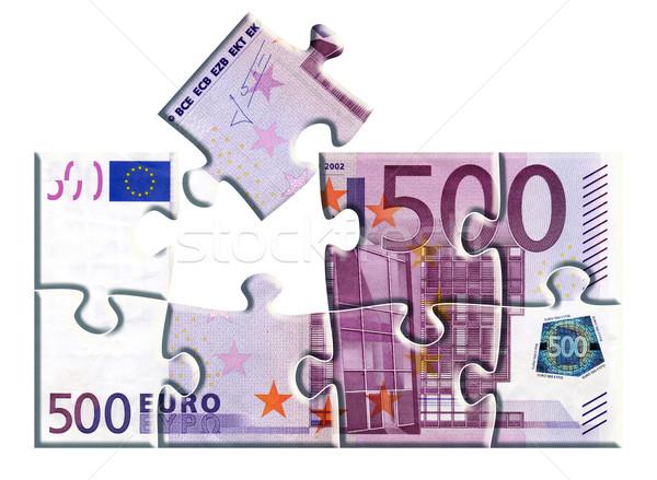 Euro quebra-cabeça 500 brinquedo nota Foto stock © ojal