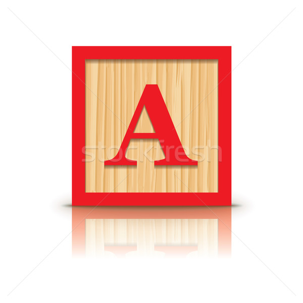 Vecteur lettre bois alphabet affaires construction Photo stock © ojal