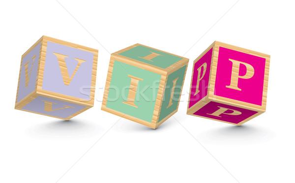 Word VIP written with alphabet blocks Stock photo © ojal