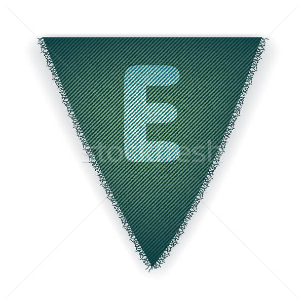 Bunting flag letter E Stock photo © ojal