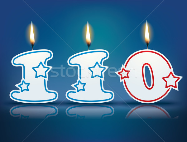 Birthday candle number 110 Stock photo © ojal