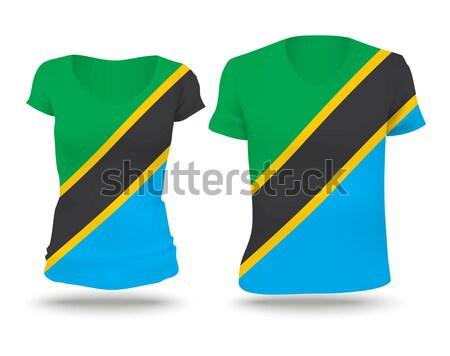 Bandeira camisas projeto Bahamas mulher homem Foto stock © ojal