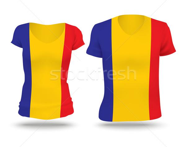Bandera camisa diseno Chad mujer hombre Foto stock © ojal